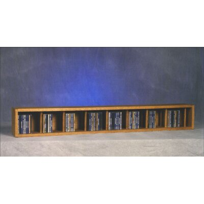 100 Series 106 CD Multimedia Tabletop Storage Rack Finish: Clear