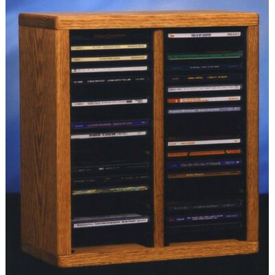 200 Series 40 CD Multimedia Tabletop Storage Rack Finish: Clear