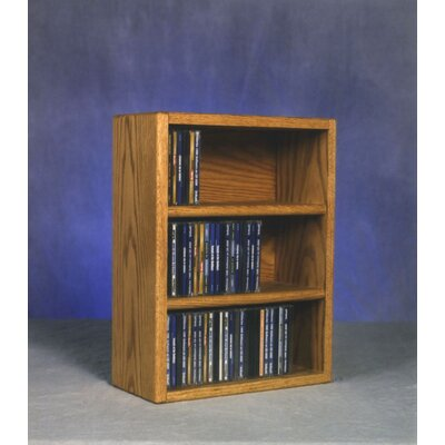 300 Series 78 CD Multimedia Tabletop Storage Rack Color: Clear