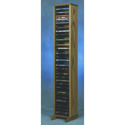 100 Series 64 DVD Multimedia Storage Rack Color: Natural