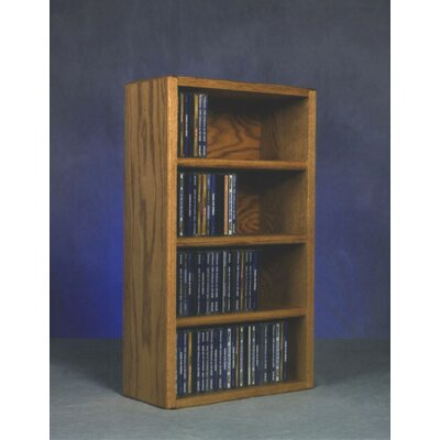 400 Series 104 CD Wall Mounted Multimedia Storage Rack Color: Unfinished