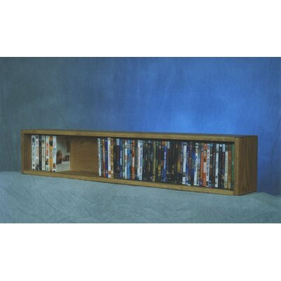 100 Series 88 DVD Multimedia Tabletop Storage Rack Finish: Natural
