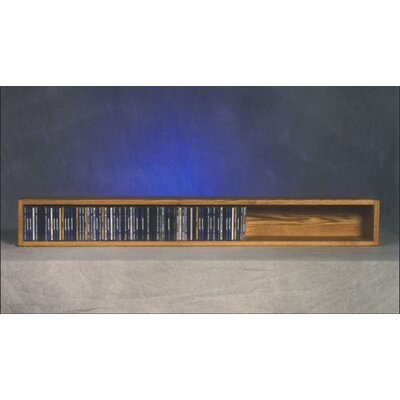 100 Series 118 CD Multimedia Tabletop Storage Rack Finish: Natural
