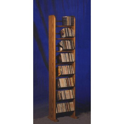 800 Series 208 CD Backless Dowel Multimedia Storage Rack Finish: Natural