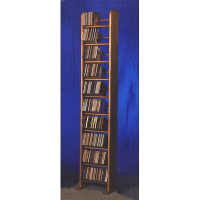 1000 Series 260 CD Backless Dowel Multimedia Storage Rack Finish: Natural