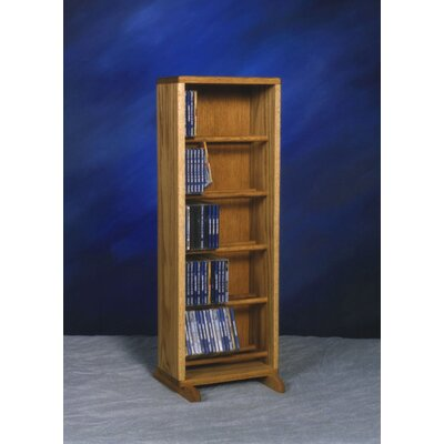 500 Series 130 CD Dowel Multimedia Storage Rack Color: Clear