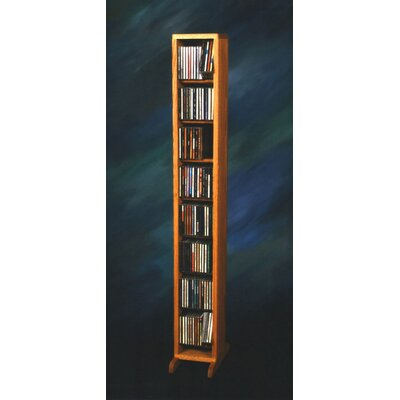 800 Series 112 CD Dowel Multimedia Storage Rack Color: Dark