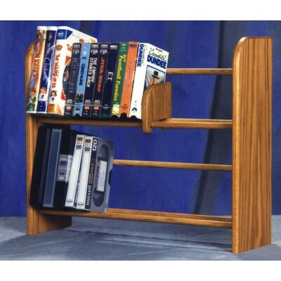200 Series 80 DVD Dowel Multimedia Tabletop Storage Rack Finish: Natural