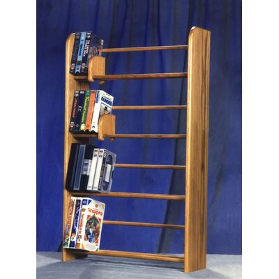 400 Series 160 DVD Dowel Multimedia Storage Rack Finish: Natural