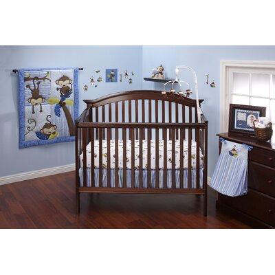 3 Little Monkey Blue 10 Piece Crib Bedding Set 7375660