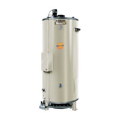 Commercial Tank Type Water Heater Nat Gas 74 Gal Master-Fit 80,000 BTU Input Single Flue Model