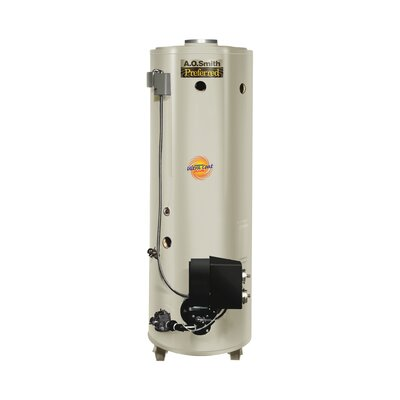 Commercial Tank Type Water Heater Nat Gas Conservationist 199,000 BTU Input Powered Burner