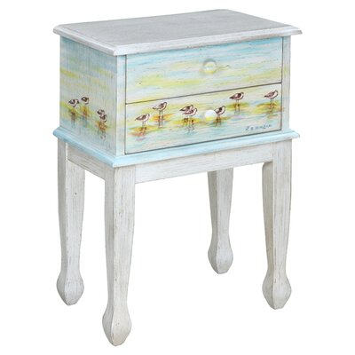 Shoreline Betsys Sandpipers End Table