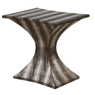Rent to own Modern Striped Hour Glass End Table...