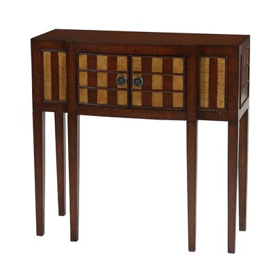 Cheap Gail's Accents Classic Narrow Console in Distressed Crackle Wood Tone Finish with Gold Highlights (HQB1032)