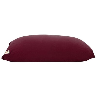 Yogi Bean Bag Chair Upholstery: Burgundy
