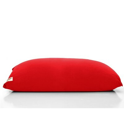 Yogi Bean Bag Chair Upholstery: Red