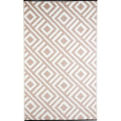 Malibu Reversible Design Beige/White Outdoor Area Rug Rug Size: 4 x 6