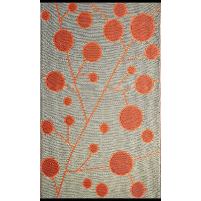 Cotton Ball Reversible Brown/Orange Outdoor Area Rug Rug Size: Rectangle 6 x 9