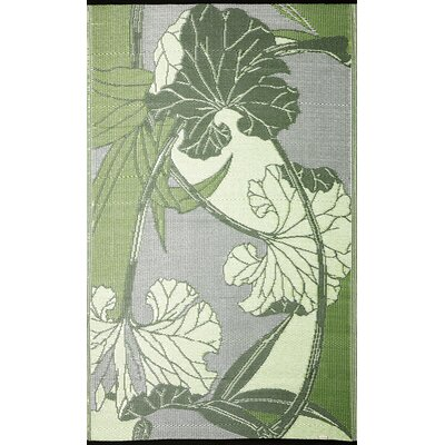 Blossom RV/Camping/Patio Mat Green/Grey Outdoor Area Rug Rug Size: 8 x 20