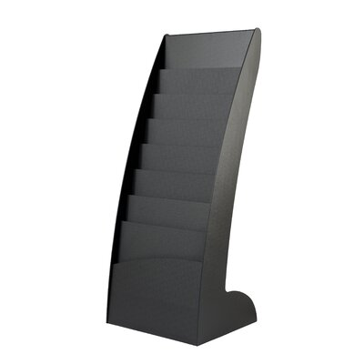 8 Pocket Curved Floor Literature Display Finish: Black