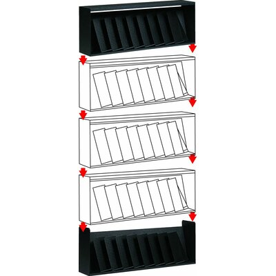 """10 Compartment Letter """"EPI"""" Wall Display 260.01"""