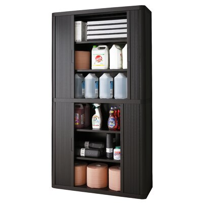 EasyOffice 2 Door Storage Cabinet Color: Black Product Photo 26