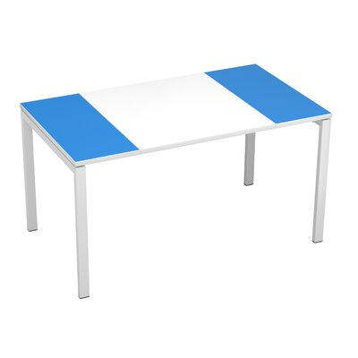 EasyDesk Training Table Finish: White / Blue, Size: 30 H x 63 W x 32 D