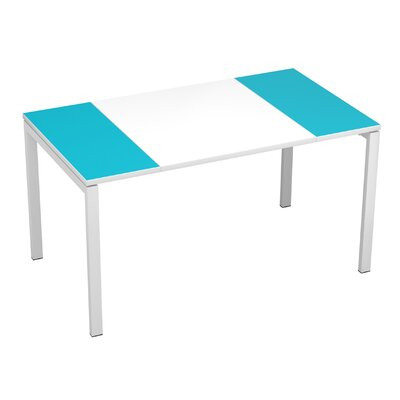 EasyDesk Training Table Color: White / Teal, Size: 30 H x 63 W x 32 D