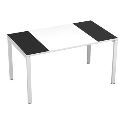 EasyDesk Training Table Color: White / Black, Size: 30 H x 63 W x 32 D