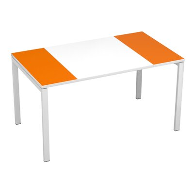 EasyDesk Training Table Finish: White / Orange, Size: 30 H x 63 W x 32 D