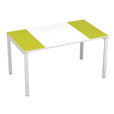 EasyDesk Training Table Finish: White / Green, Size: 30 H x 63 W x 32 D