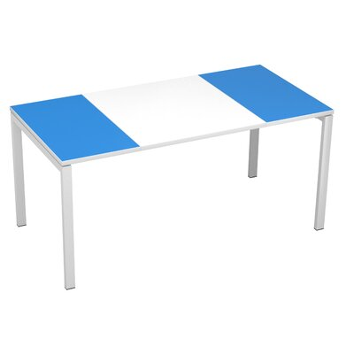 EasyDesk Training Table Color: White / Blue, Size: 30 H x 55 W x 32 D