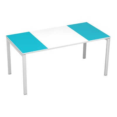 EasyDesk Training Table Finish: White / Teal, Size: 30 H x 55 W x 32 D