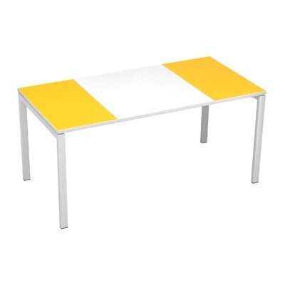 EasyDesk Training Table Finish: White / Yellow, Size: 30 H x 71 W x 32 D