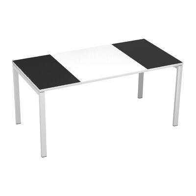 EasyDesk Training Table Color: White / Black, Size: 30 H x 55 W x 32 D