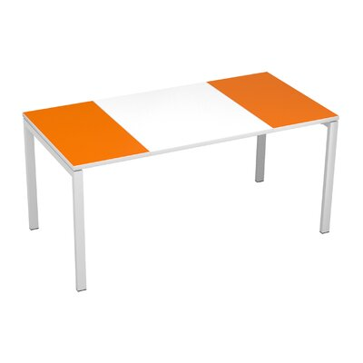 EasyDesk Training Table Finish: White / Orange, Size: 30 H x 55 W x 32 D