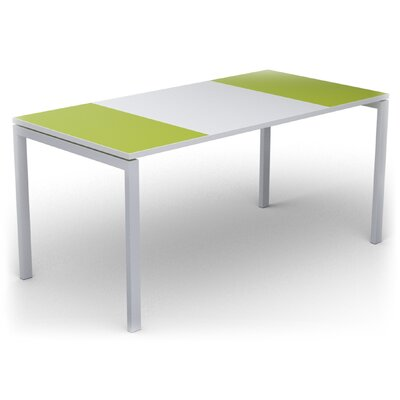 EasyDesk Training Table Color: White / Green, Size: 30 H x 55 W x 32 D