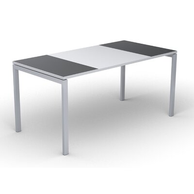 EasyDesk Training Table Color: White / Antracite, Size: 30 H x 55 W x 32 D