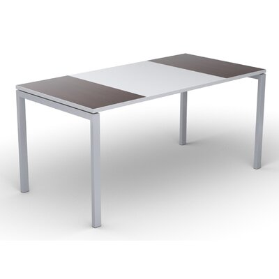 EasyDesk Training Table Color: White / Wenge, Size: 30 H x 55 W x 32 D