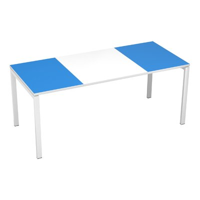 EasyDesk Training Table Finish: White / Blue, Size: 30 H x 71 W x 32 D