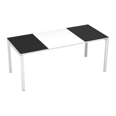 EasyDesk Training Table Finish: White / Black, Size: 30 H x 71 W x 32 D