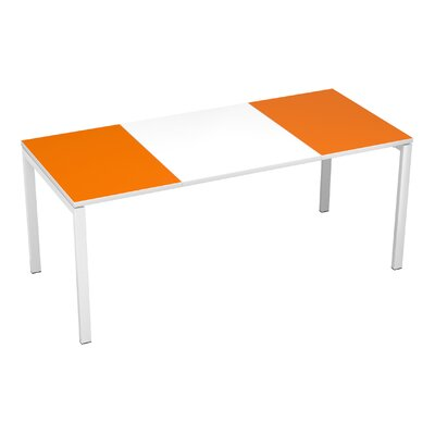 EasyDesk Training Table Finish: White / Orange, Size: 30 H x 71 W x 32 D