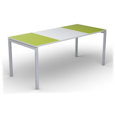 EasyDesk Training Table Color: White / Green, Size: 30 H x 71 W x 32 D