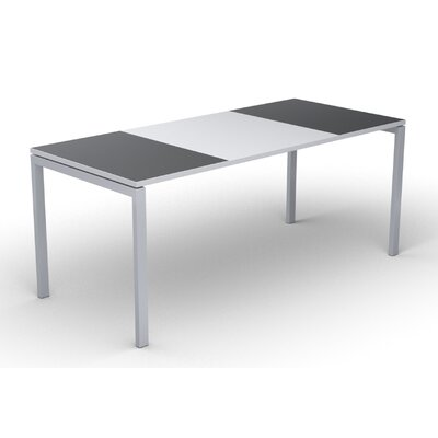 EasyDesk Training Table Color: White / Antracite, Size: 30 H x 71 W x 32 D