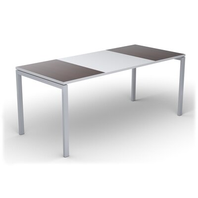 EasyDesk Training Table Finish: White / Wenge, Size: 30 H x 71 W x 32 D