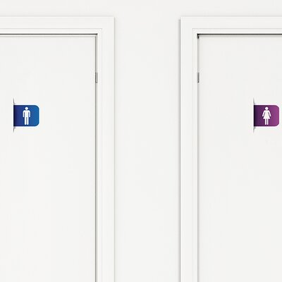 Office Deco Transfer Restroom Sign Wall Decal