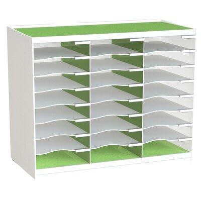 24 Compartment Master Literature Organizer Color: Green
