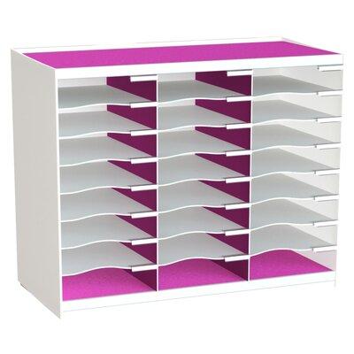 24 Compartment Master Literature Organizer Color: Pink