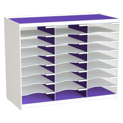 24 Compartment Master Literature Organizer Color: Purple